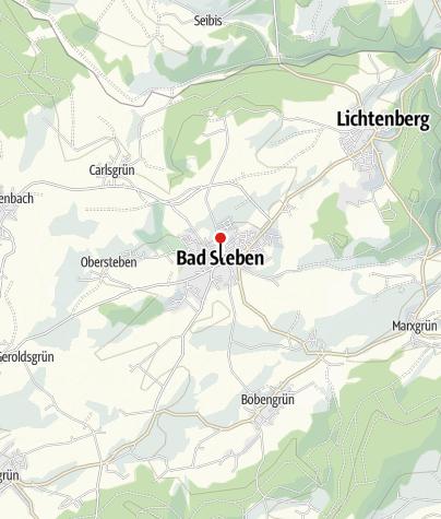 Map / St Walburga's Fortified Church in Bad Steben