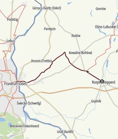 Map / Lubuska Way of St.James: Rzepin - Słubice