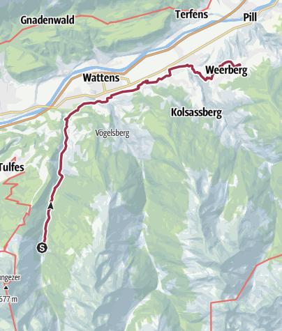 Karte / NATURFREUNDE Jubiläums-Hüttenweg 056: Voldertal - Weerberg