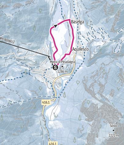 Cartina / Winter walk Campo Blenio