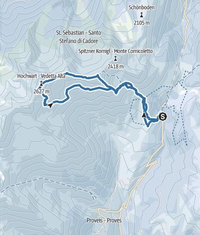 Karte / Cima Belmonte e Vedetta Alta