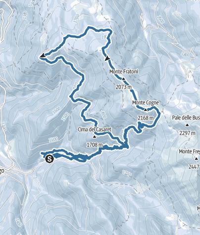 Karte / Giro del monte Cogne