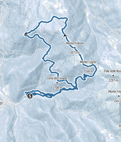 Map / Giro del monte Cogne