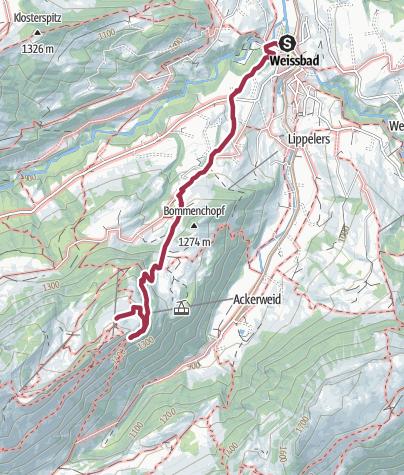 Map / Weissbad - Aescher - Ebenalp