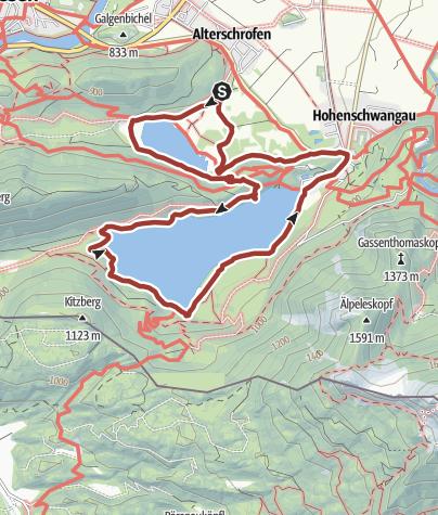 Map / Heilklimawandern: Schwansee und Alpsee