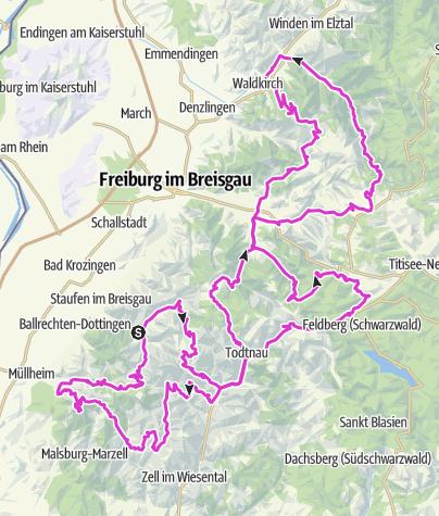 Map / Schwarzwald Super! Rennradmarathon 2020 / Gold