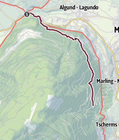 Map / From Forst to the Marling mountain road