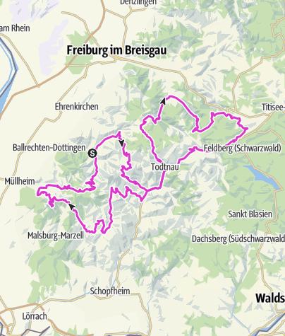 Map / Schwarzwald Super! Rennradmarathon 2020 / Silber