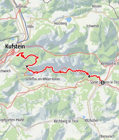 Map / Adlerweg - Wandern auf den Schwingen des Adlers Etappen 1-3