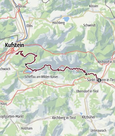 Karte / Adlerweg - Wandern auf den Schwingen des Adlers Etappen 1-3