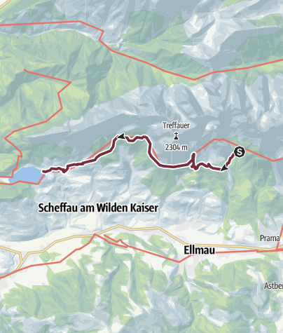 Karte / Adlerweg - Etappe 2 Gaudeamushütte - Hintersteinersee