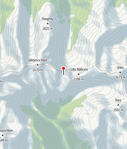 Karte / Refugiul Fereastra Mică, 2190 m