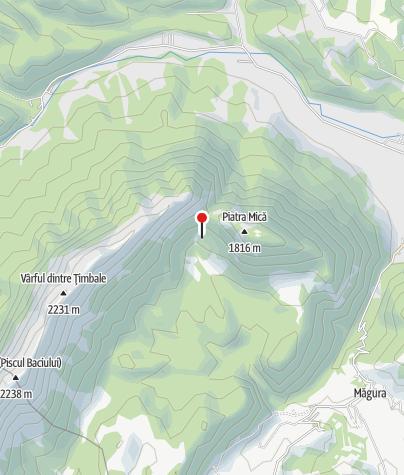 Karte / Cabana Curmătura / Curmătura-Hütte, 1435 m