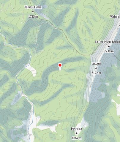 Karte / Cabana Garofița / Pietrii Craiului 1091 m