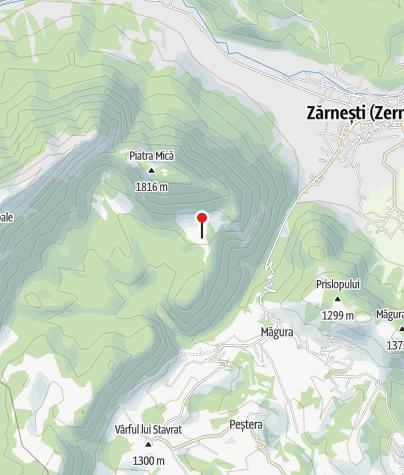 Karte / Schäferhütte Stâna Zănoaga, 1319 m