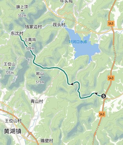 地图 / 德清线筏头村南线徒步路线
