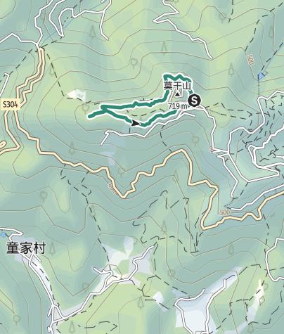 地图 / 徒步环绕莫干山大坑景区