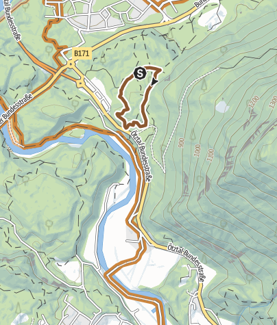 Térkép / Trailcenter Ötztaler Höhe / Wolfsrudel Trail