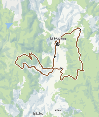 Carte / Circuit VTT n°3 – Saint Anthème