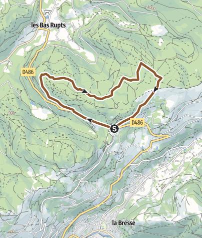 Carte / Gerardmer – Circuit n°3 Bois de la Poussière