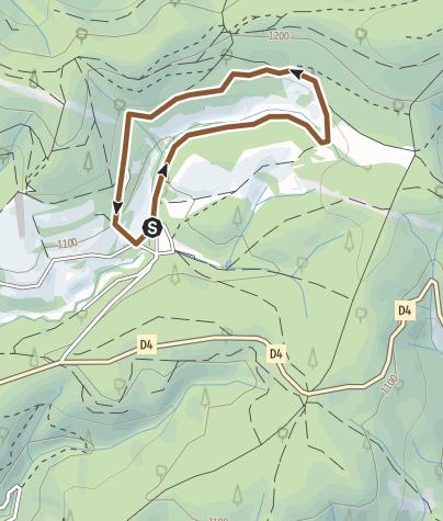 Carte / Circuit VTT n°7: La Felgère
