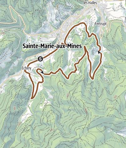 Mappa / Circuit VTT n°17 - Les mines d'Argent