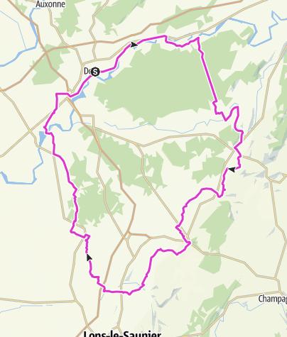 Carte / Le Tour du Jura à vélo version loisirs