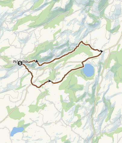 Carte / Circuit VTT n°11: Lac Chauvet - Secteur Picherande