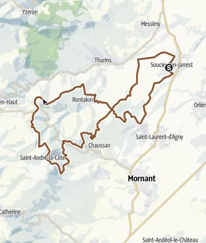 Karte / Circuit n°191 : Tour de Saint-André-la-Côte