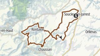 Karte / Circuit n°190 : Tour de Rontalon
