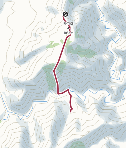 Map / Shutes Hut, Kaweka Forest Park