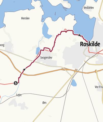 Map / Gammel Lejre-Roskilde havn