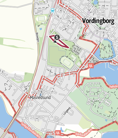 Map / Vordingborg - Kirkeskoven