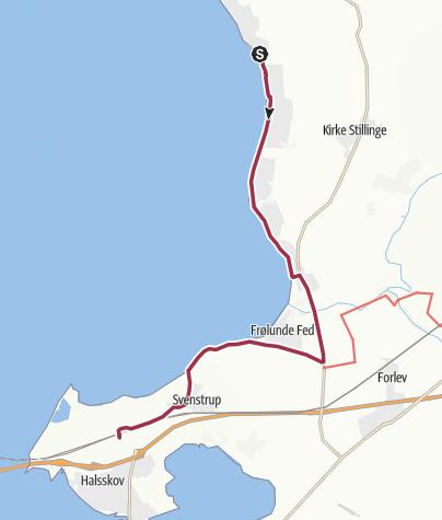 Map / Bildsø Skov-Korsør Station