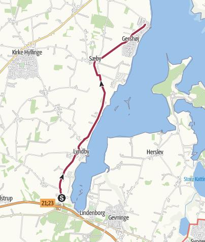 Map / Lejre Vig-Gershøj Landsby