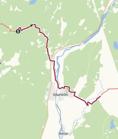 Map / Hallandsleden - etapp Döbla - Rydet 12 km - södra delen