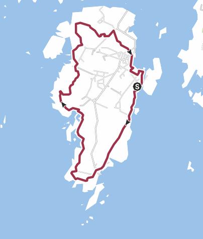 Map / Kuststigen 9: Bohus-Malmön (10 km)