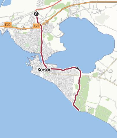 Map / Korsør Station -Korsør Lystskov