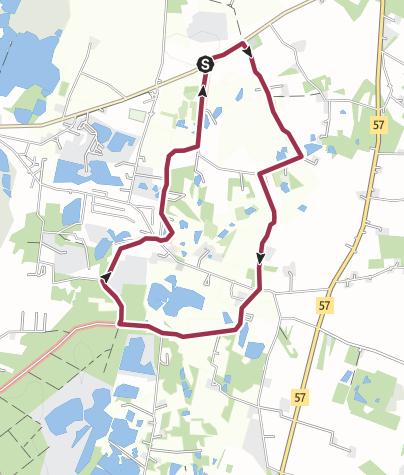 Map / Bromme Plantage - rundtur Buskehuse