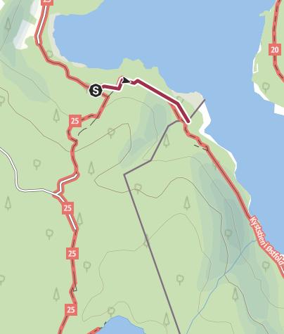Map / Kuststigen 14: Idefjorden - Ramberget (0,7 km Riksgränsen - Bohusleden)
