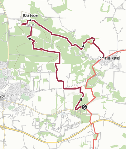 Map / SL 2 etapp 13A: Skrylleslingan