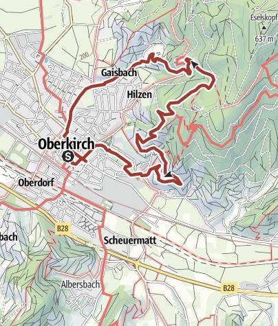 Karte / Oberkircher Weinwanderung
