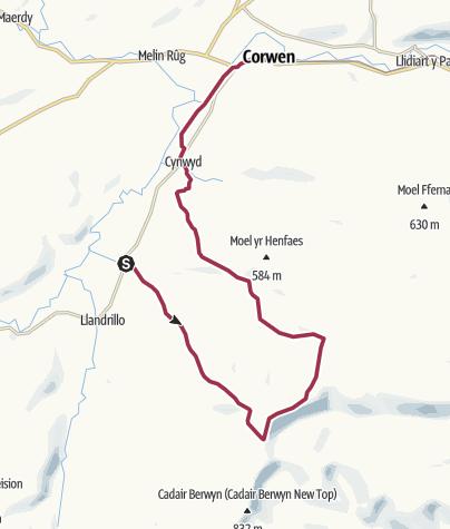 Map / Cadair Bronwen