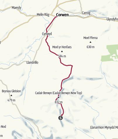Map / Berwyn Ridge Walk