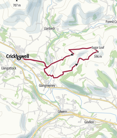 Map / Crickhowell Sugar Loaf Circular