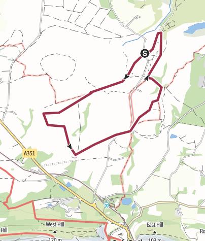 Map / Dorset, Middlebere Heath Meander