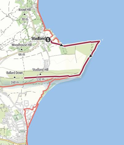 Map / Dorset, Ballard Down, Studland