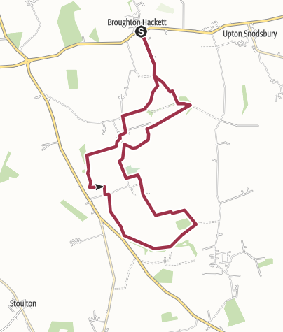 Map / Worcestershire, March Hare to Aston Hall Farm