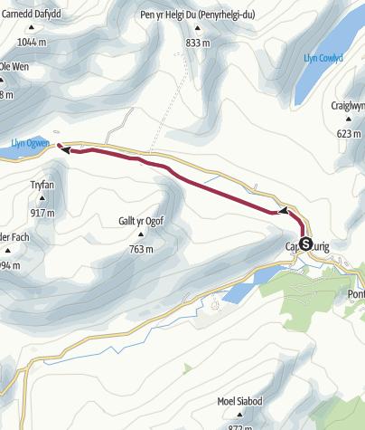 Map / Snowdonia, Capel Curig to Ogwyn Old Coach Road