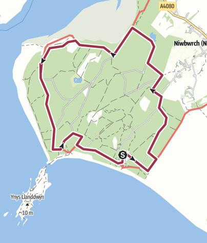 Map / Snowdonia, Anglesey, Newborough Forest